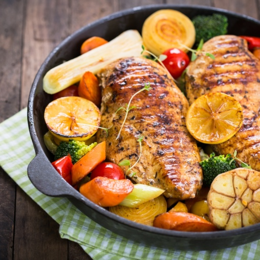 Lemon Chicken Steak with Vegetables